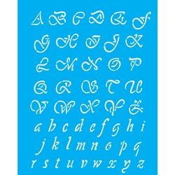 Stencil OPA 20x25 Simples 1 Chapa (OPA1087) Alfabeto Manuscrito