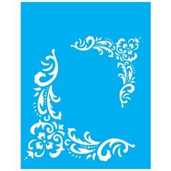 Stencil OPA 20x25 Simples 1 Chapa (OPA1324) Cant. Flor Folhas