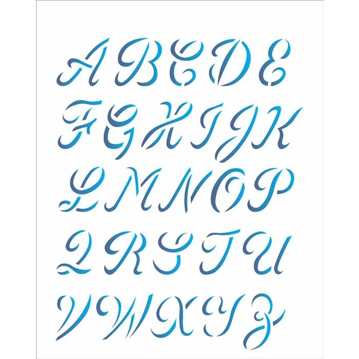 Stencil OPA 20x25 Simples 1 Chapa (OPA1398) Alfabeto Maiúsculo