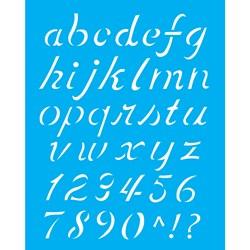 Stencil OPA 20x25 Simples 1 Chapa (OPA1399) Alfabeto Minúsculo