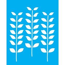 Stencil OPA 20x25 Simples 1 Chapa (OPA1770) Estampa Folhas