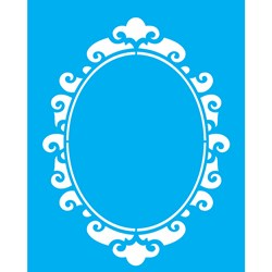 Stencil OPA 20x25 Simples 1 Chapa (OPA1886) Moldura Oval II