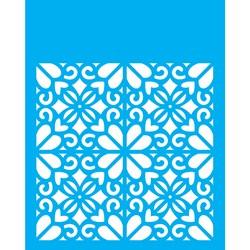 Stencil OPA 20x25 Simples 1 Chapa (OPA2057) Estampa Floral Coração