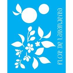 Stencil OPA 20x25 Simples 1 Chapa (OPA2059) Flor de Laranjeira