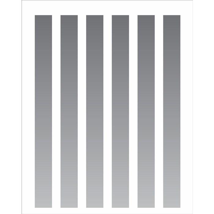 Stencil OPA 20x25 Simples 1 Chapa (OPA2069) Listras 2cm