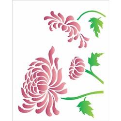 Stencil OPA 20x25 Simples 1 Chapa (OPA2182) Flor Crisantemo