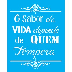 Stencil OPA 20x25 Simples 1 Chapa (OPA2186) Frase o Sabor Da Vida