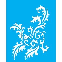 Stencil OPA 20x25 Simples 1 Chapa (OPA2259) Arabesco Folhas