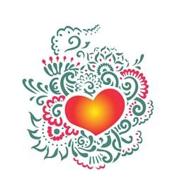Stencil OPA 20x25 Simples 1 Chapa (OPA2265) Coração Ornamento