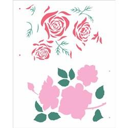 Stencil OPA 20x25 Simples 1 Chapa (OPA2360) Flor Rosas