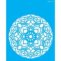 Stencil OPA 20x25 Simples 1 Chapa (OPA2460) Mandala Flor Redonda