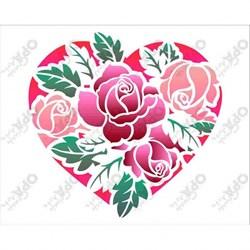 Stencil OPA 20x25 Simples 1 Chapa (OPA2630) Coração Rosas