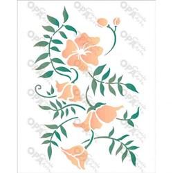 Stencil OPA 20x25 Simples 1 Chapa (OPA2634) Ramo Floral