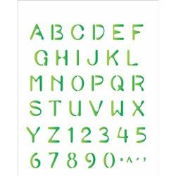 Stencil OPA 20x25 Simples 1 Chapa (OPA477) Alfabeto Reto II