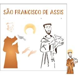 Stencil OPA 30,5x30,5 Simples 1 Chapa (OPA2206) São Francisco de Assis