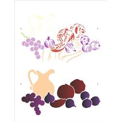 Stencil OPA 32x42 Simple 1 Chapa (OPA2900) Mesa com uva, figo e romãs