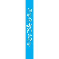 Stencil OPA 4x30 Simples 1 Chapa (OPA056) Arabesco Espiral