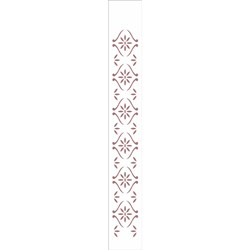 Stencil OPA 4x30 Simples 1 Chapa (OPA356) Floral