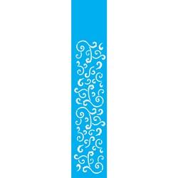 Stencil OPA 6x30 Simples 1 Chapa (OPA1074) Arabesco Folha I