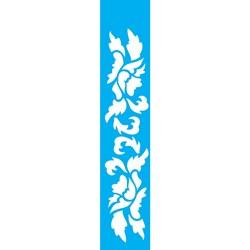 Stencil OPA 6x30 Simples 1 Chapa (OPA1857) Arabesco Flor