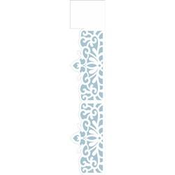 Stencil OPA 6x30 Simples 1 Chapa (OPA2410) Renda Arabesco Flor
