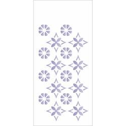 Stencil OPA 7x15 Simples 1 Chapa (OPA1955) Estampa Flor