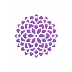 Stencil para Pintura Arte Fácil ST-153 Mandala Flor