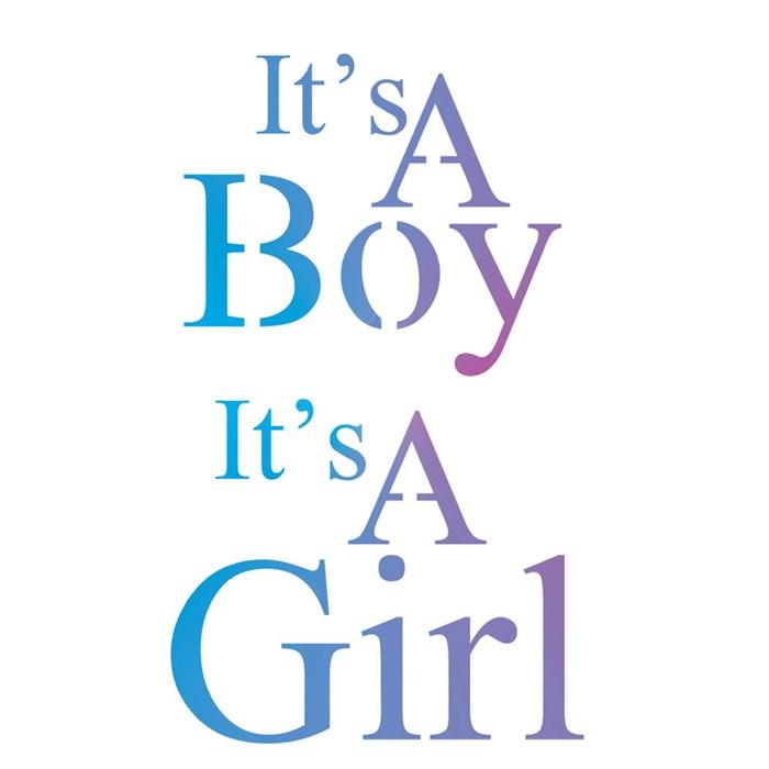 Stencil para Pintura Arte Fácil ST-520 É um menino é uma menina