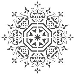 Stencil para Pintura Arte Fácil ST-586 Mandala