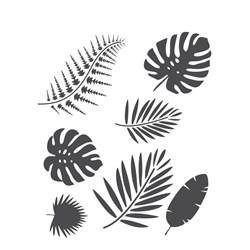 Stencil para Pintura Arte Fácil ST-787 Folhas Tropicais