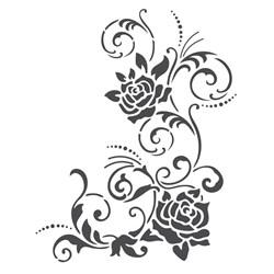 Stencil para Pintura Arte Fácil ST-790 Rosas