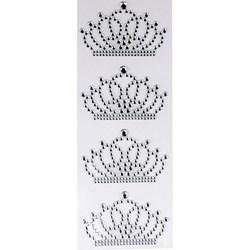 Strass Adesivo Coroa Grande Cristal SCG-01- 4 Coroas