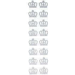 Strass Adesivo Coroa Pequena Cristal SCP-01 - 16 Coroas