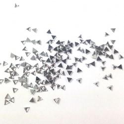 Strass Mini Triângulo Prata SR014 - 1 grama