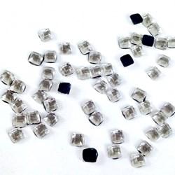 Strass Square Cristal 3x3 SQ003 - com 50 Unidades