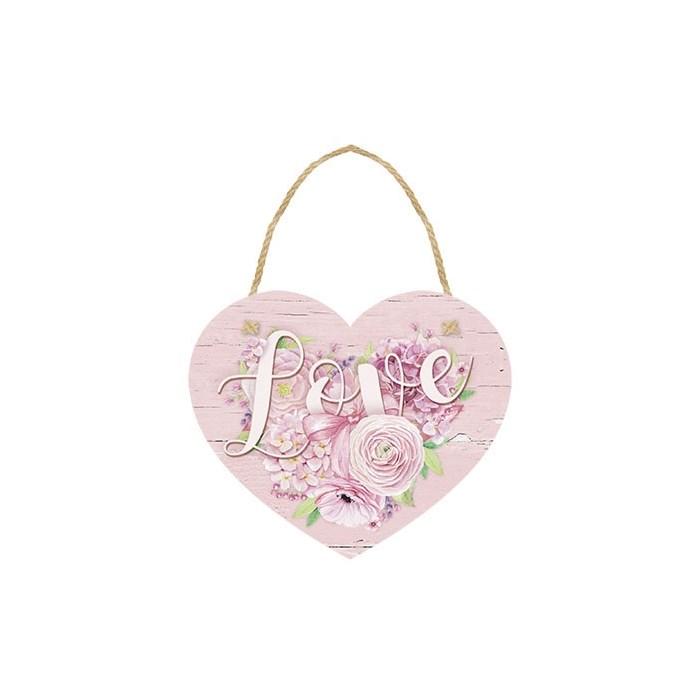 Tag Decorativo em Papel e MDF DHT-005 Love