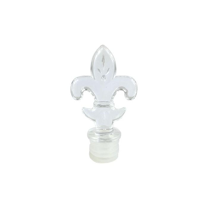 Tampa Acrílica Cristal de Pressão FLOR DE LIS