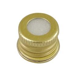 Tampa De Alumínio Ouro Aberta R18 - 14x18mm
