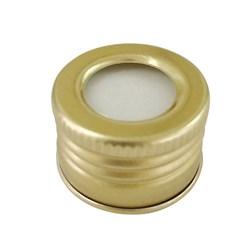 Tampa De Alumínio Ouro Aberta R28  - 19x28mm
