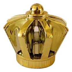 Tampa Plástica Coroa R13 Dourada Metalizada - 20x13mm