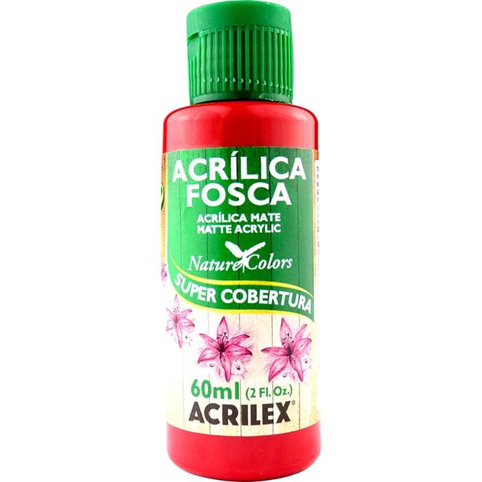 Tinta Acrílica Fosca - Nature Colors Acrilex 60mL - 508 Vermelho Escarlate