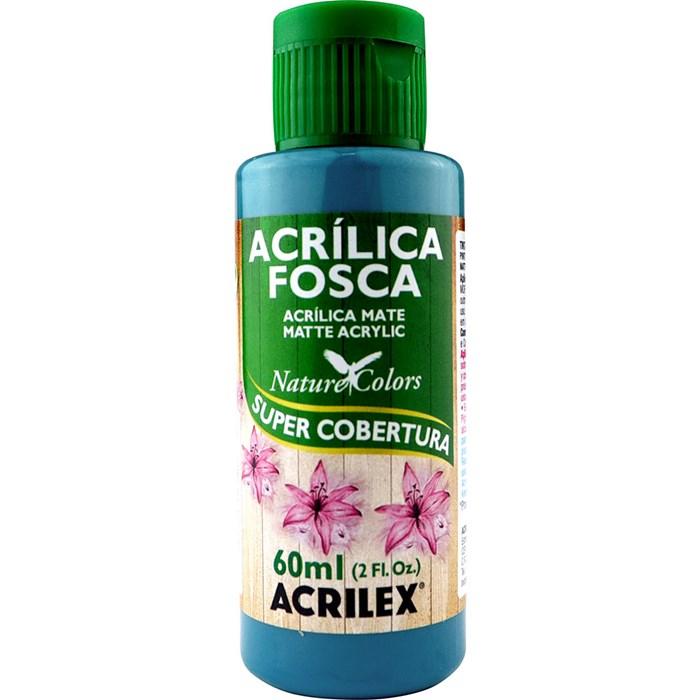 Tinta Acrílica Fosca - Nature Colors Acrilex 60mL - 823 Azul Piscina