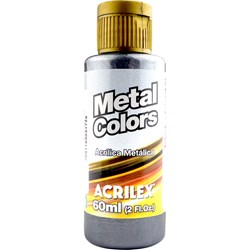 Tinta Acrílica Metal Colors Acrilex 60mL - 520 Preto