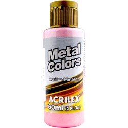 Tinta Acrílica Metal Colors Acrilex 60mL - 537 Rosa