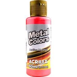 Tinta Acrílica Metal Colors Acrilex 60mL - 555 Vermelho