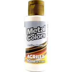 Tinta Acrílica Metal Colors Acrilex 60mL - 562 Branco Metálico
