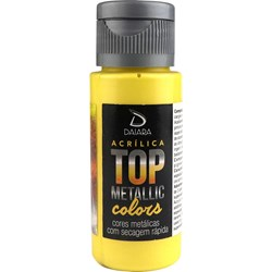 Tinta Acrílica Top Metallic 60ml Daiara - 202 Mostarda
