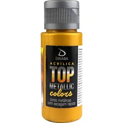 Tinta Acrílica Top Metallic 60ml Daiara - 240 Ouro Barroco