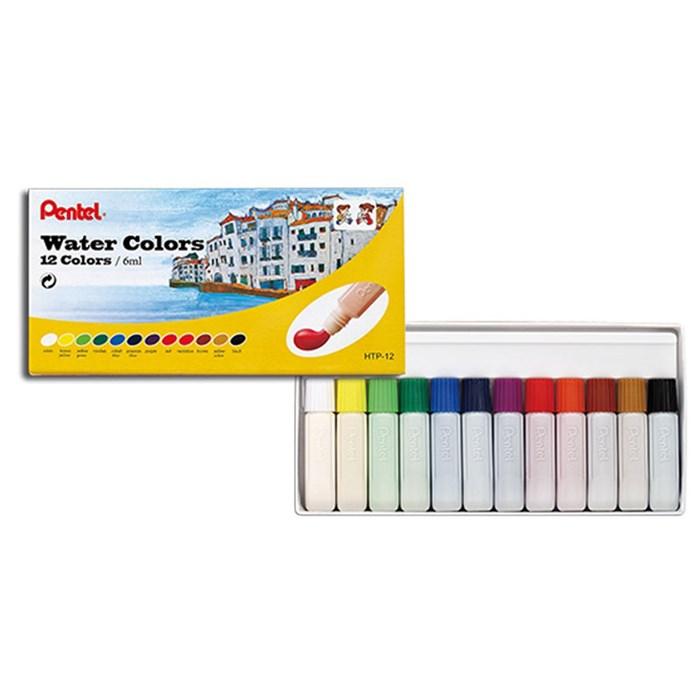 Tinta Aquarela Pentel Arts Water Colours com 12 cores - HTP-12B
