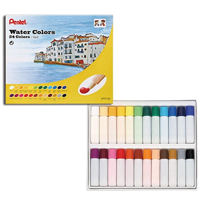 Tinta Aquarela Pentel Arts Water Colours com 24 cores - HTP-24B